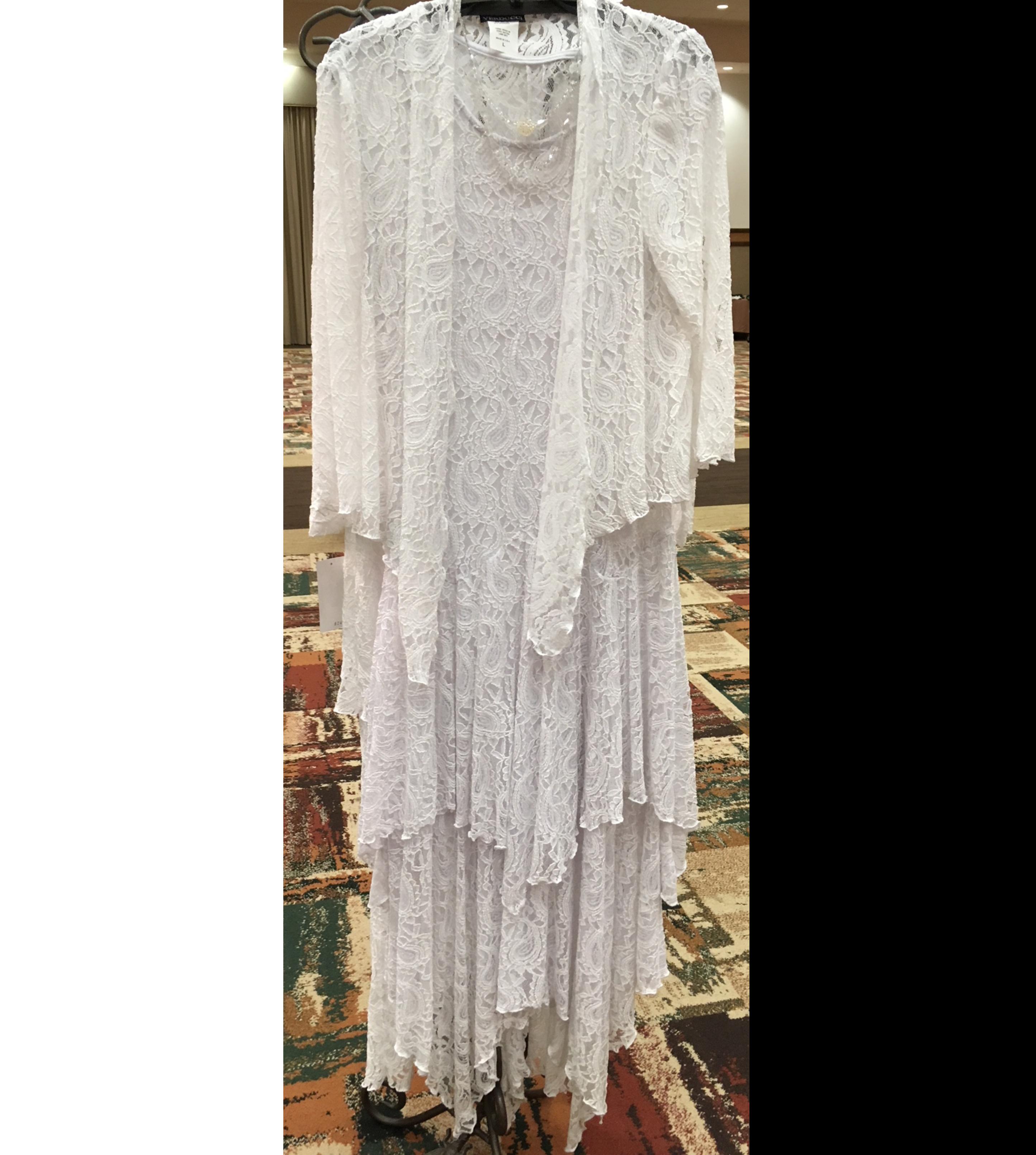 White Lace Dress & Jacket
