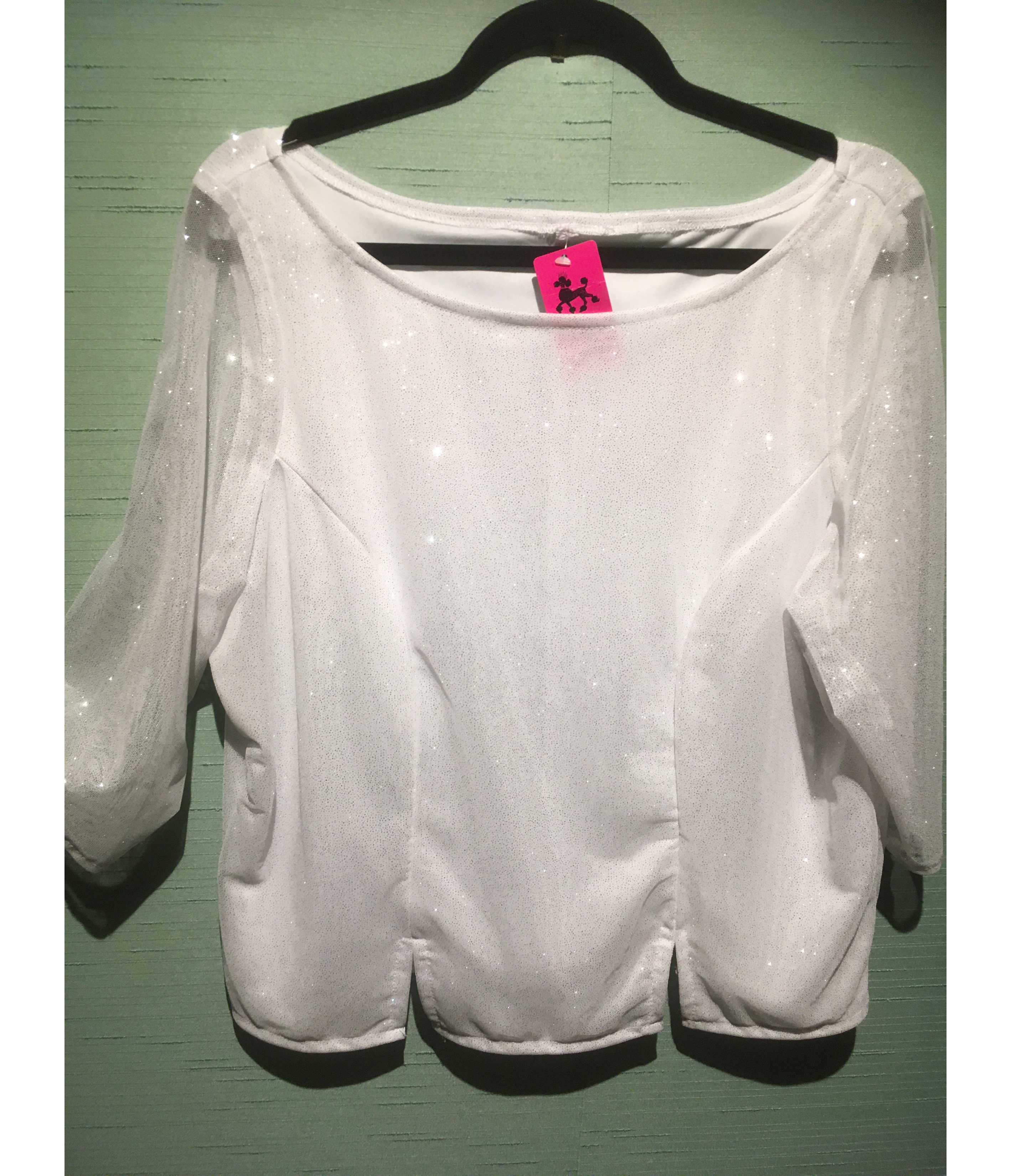 White/S Sparkle Top