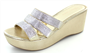 Silver/Gold Crystal Wedge